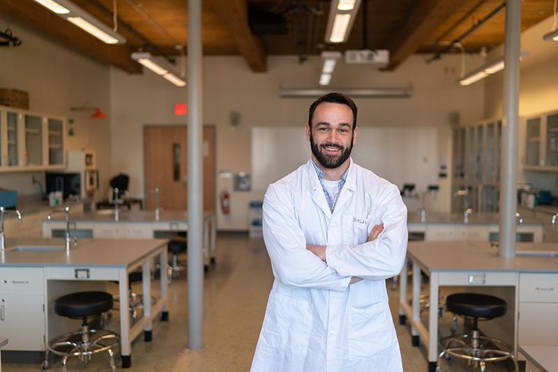 Biological sciences student Evan Boylan '18 finds path to Physician Assistant Studies graduate program