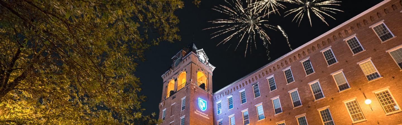 UNHM campus fireworks
