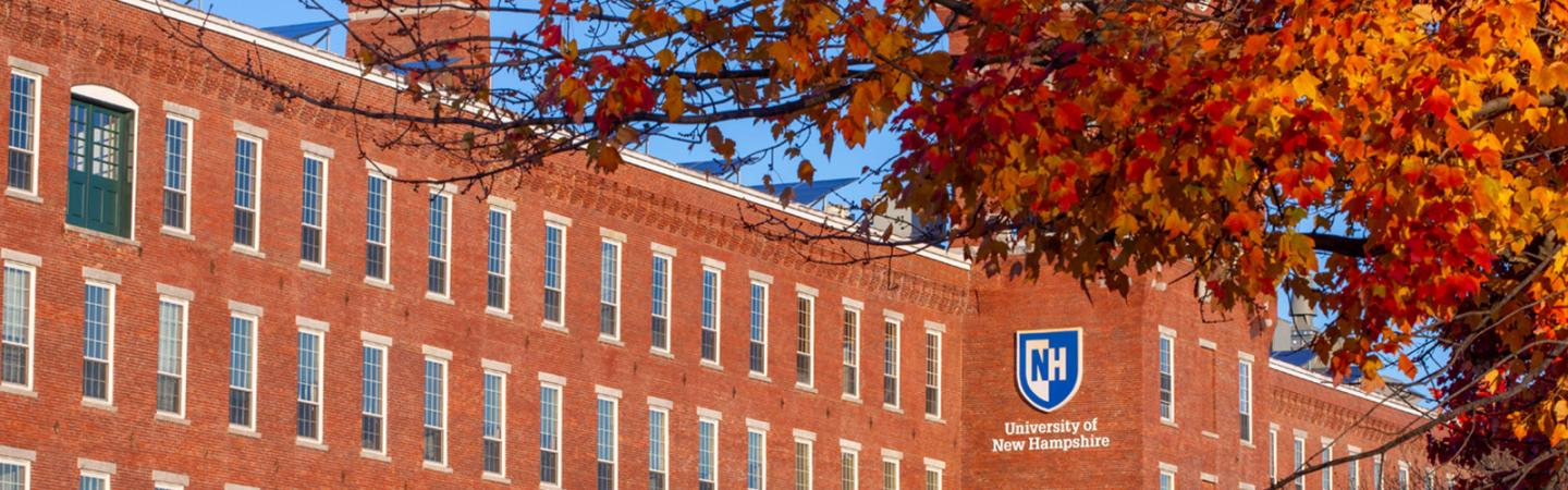 UNH Manchester Building photo in the fall