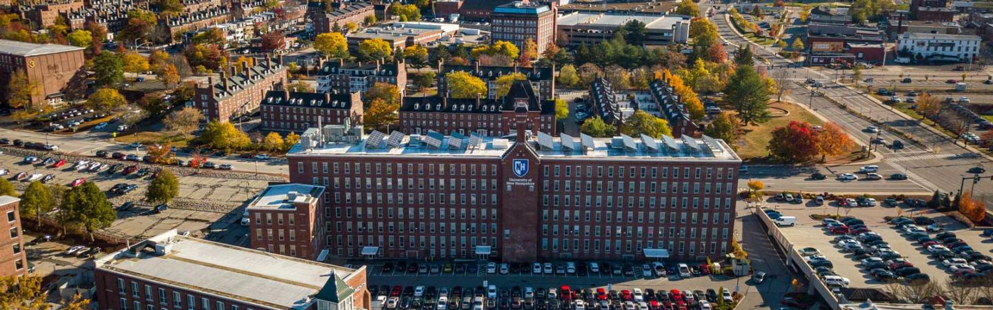 UNH Manchester campus aerial