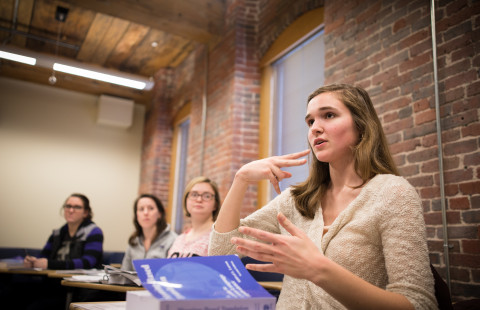 Students in the ASL/Interpreting program at UNH Manchester