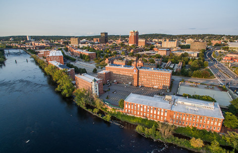 Side View of UNH Manchester