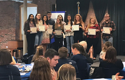 UNH Manchester's student leaders were recognized at the fourth annual Student Leadership Awards Ceremony on April 25