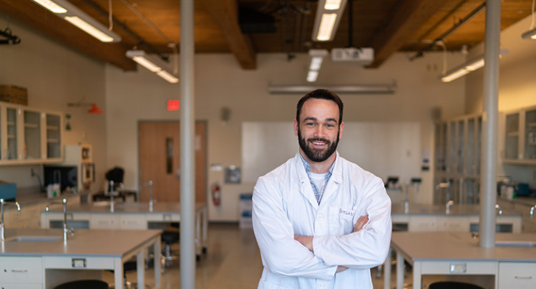 Biological sciences student Evan Boylan '18 finds path to Physician Assistant Studies graduate program