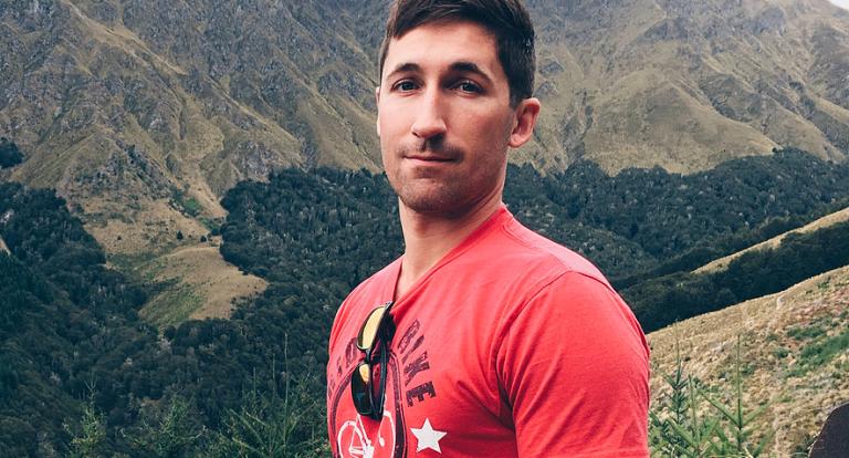 A man on a mountain