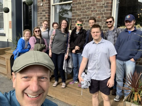 Students and faculty on the summer study trip in the UK