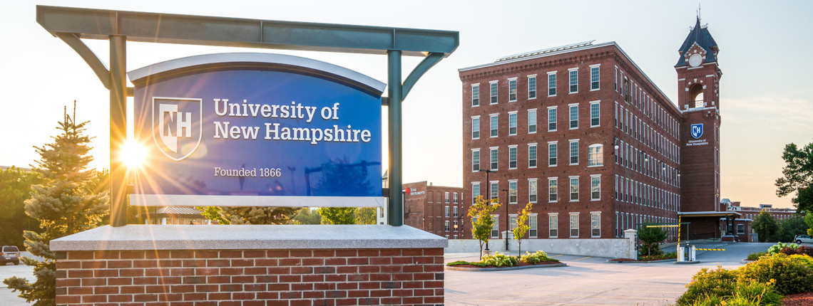 Sign: University of New Hampshire founded 1866